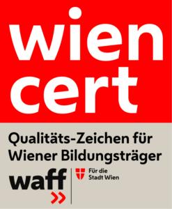 wien cert - Qualtitäts-Zeichen für Wiener Bildungsträger >> waff: für die Stadt Wien