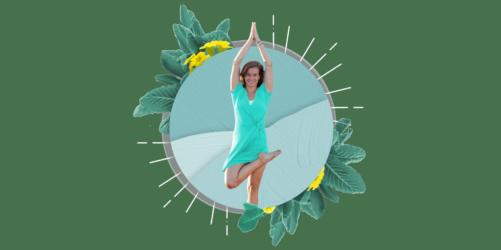 Nancy in Yoga Pose Collage